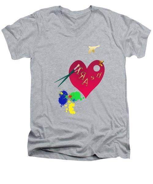 Rubellite By V.kelly Men's V-Neck T-Shirt