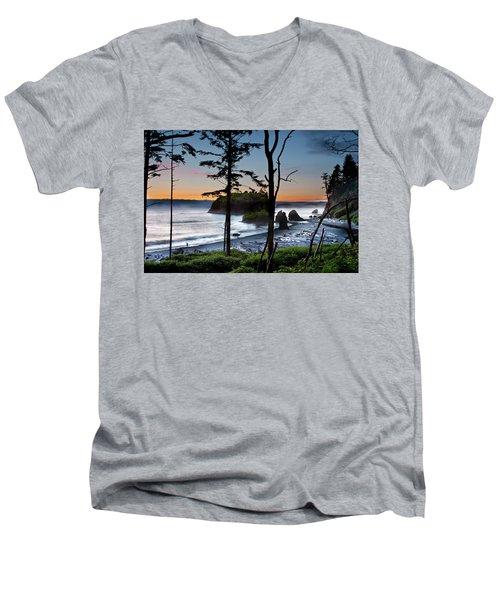 Ruby Beach #2 Men's V-Neck T-Shirt