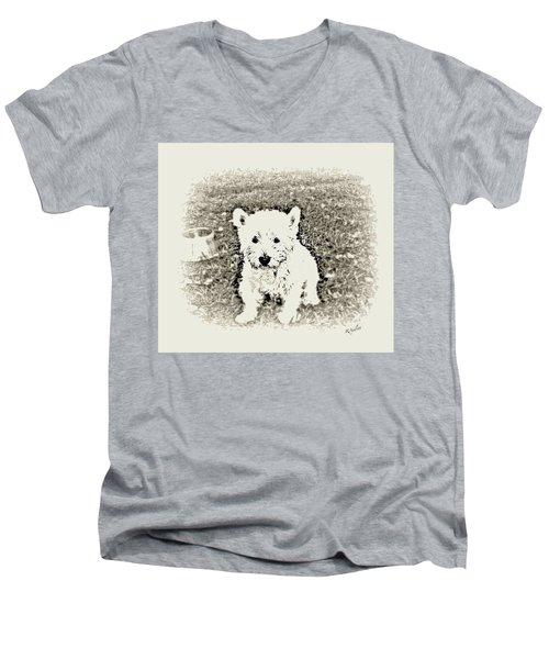 Ruby Men's V-Neck T-Shirt by YoMamaBird Rhonda