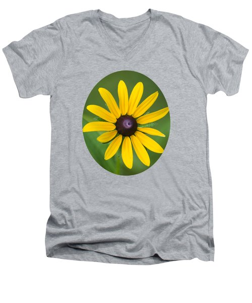 Rudbeckia Flower Men's V-Neck T-Shirt by Christina Rollo