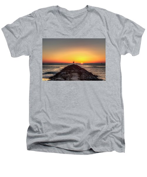 Rudee Inlet Jetty Men's V-Neck T-Shirt
