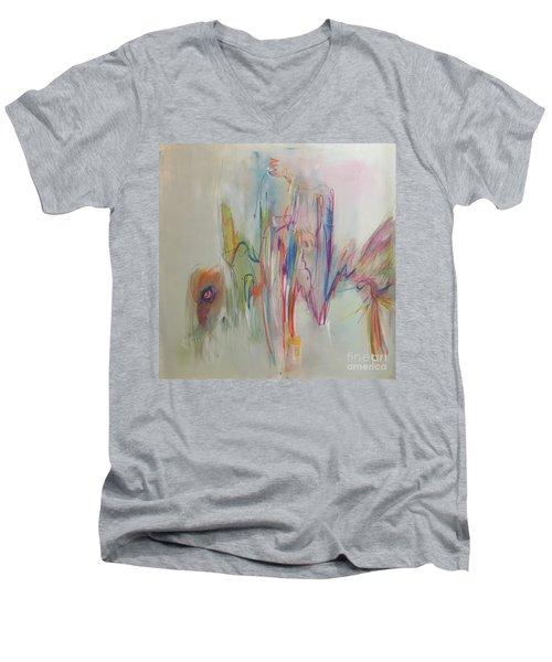 Ruffled Men's V-Neck T-Shirt