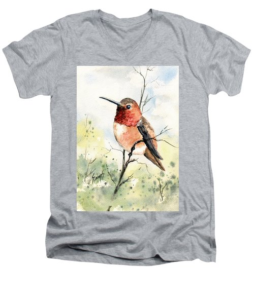 Rufous Hummingbird Men's V-Neck T-Shirt