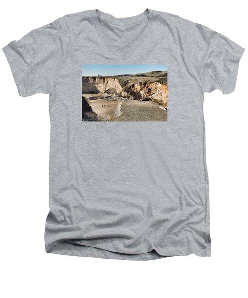 Rugged Coastline Men's V-Neck T-Shirt
