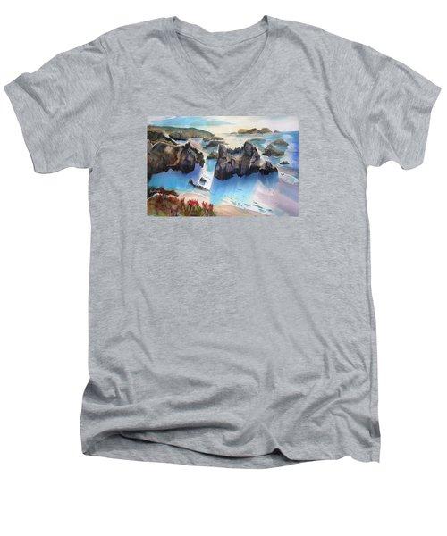 Marin Lovers Coastline Men's V-Neck T-Shirt