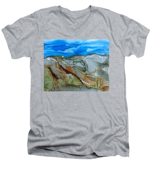 Rugged Men's V-Neck T-Shirt by Pat Purdy
