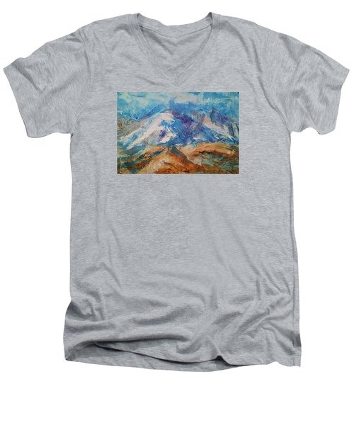 Rugged Terrain Men's V-Neck T-Shirt by Becky Chappell