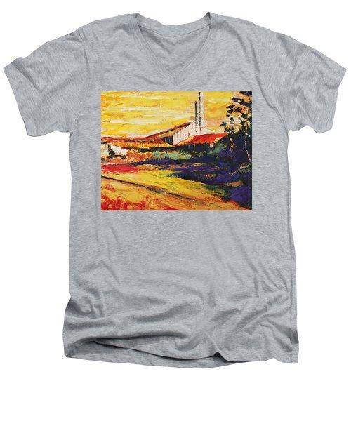 Ruinas De La Central Eureka Men's V-Neck T-Shirt