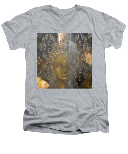 Ruined Palace Buddha Men's V-Neck T-Shirt by Dina Dargo