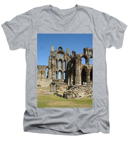 Ruins Of Whitby Abbey Men's V-Neck T-Shirt