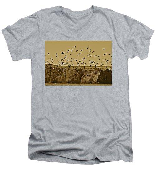 Run For Cover Men's V-Neck T-Shirt