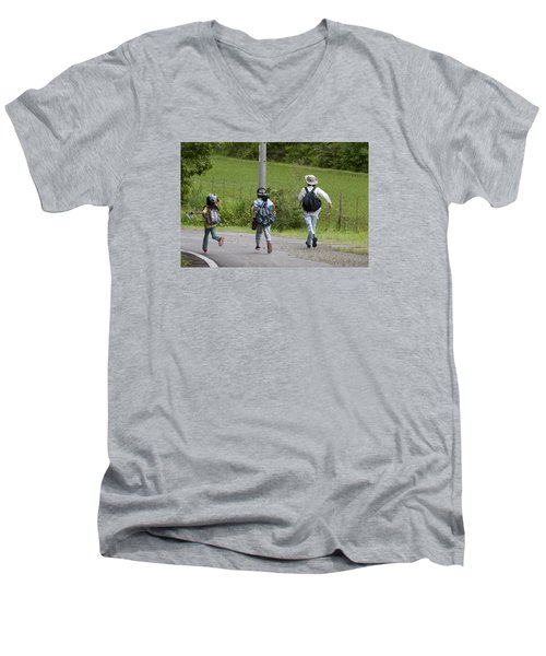 Run For It Men's V-Neck T-Shirt