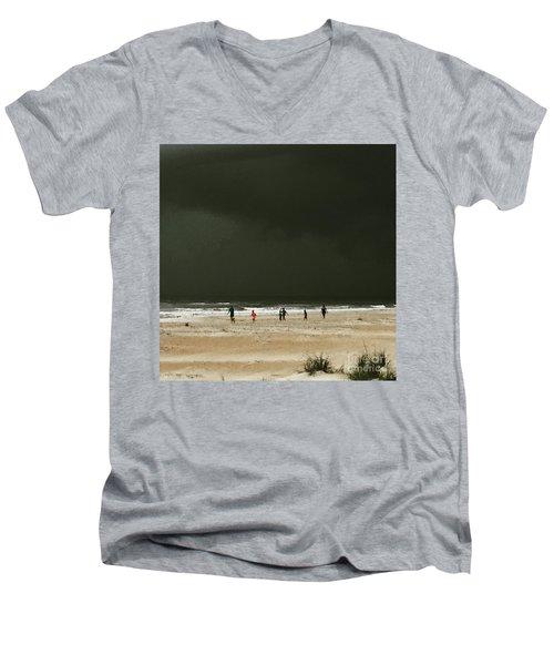 Run Men's V-Neck T-Shirt by LeeAnn Kendall