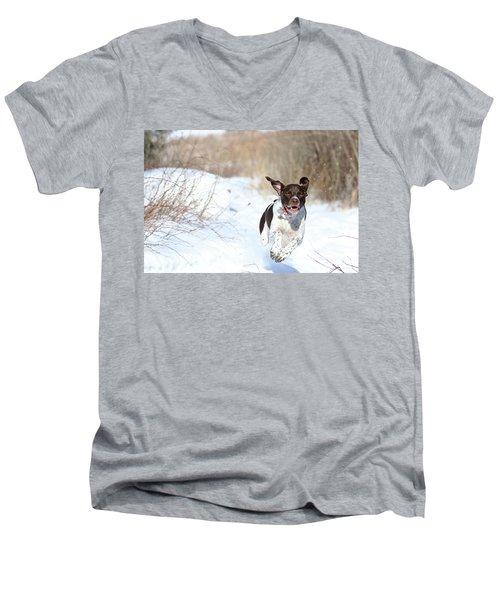 Run Millie Run Men's V-Neck T-Shirt by Brook Burling