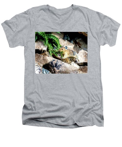 Run Run Little Pika Men's V-Neck T-Shirt