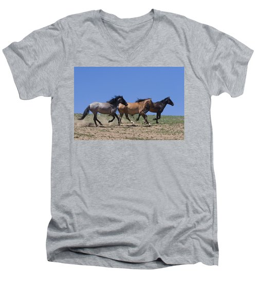 Running Free- Wild Horses Men's V-Neck T-Shirt