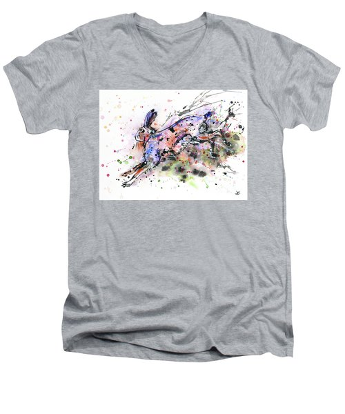 Running Hare Men's V-Neck T-Shirt