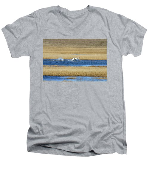 Running On Water Men's V-Neck T-Shirt