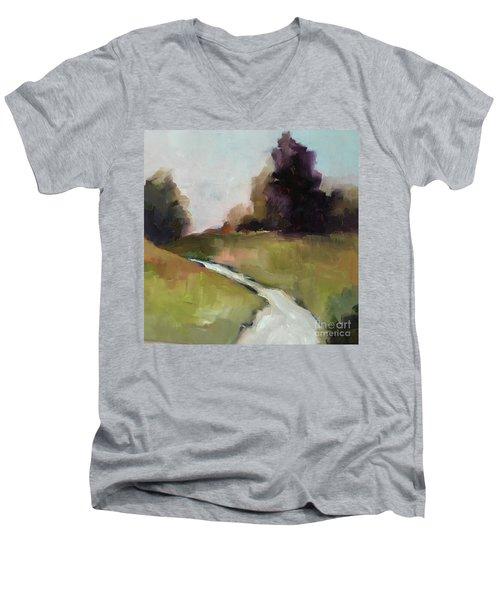 Running Stream Men's V-Neck T-Shirt