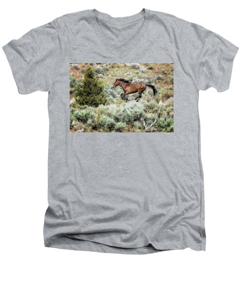 Running Through Sage Men's V-Neck T-Shirt