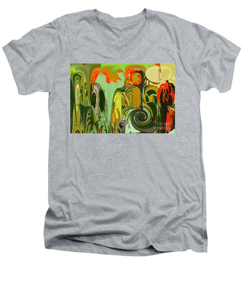 Running Through The Jungle Men's V-Neck T-Shirt