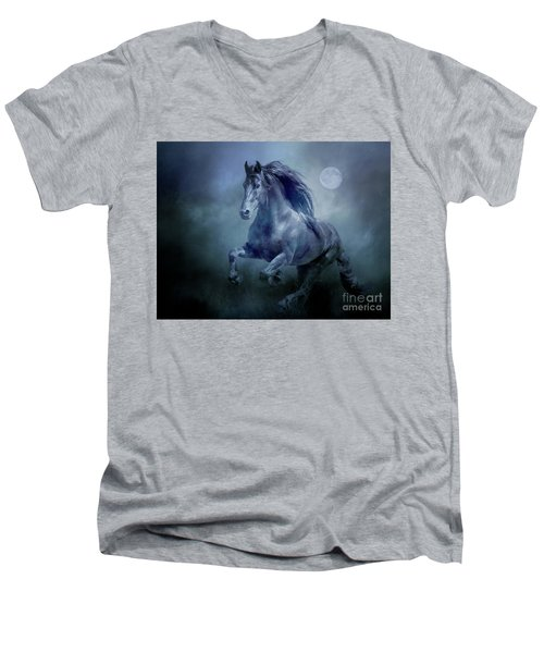 Running With The Moon Men's V-Neck T-Shirt