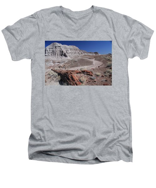 Men's V-Neck T-Shirt featuring the photograph Runoff Obstacle by Gary Kaylor