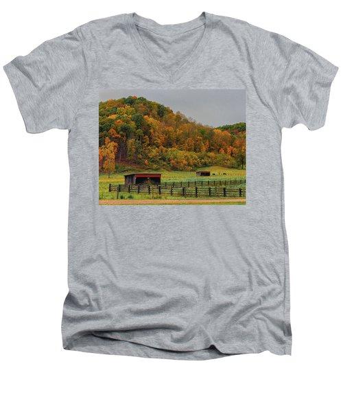 Rural Beauty In Ohio  Men's V-Neck T-Shirt