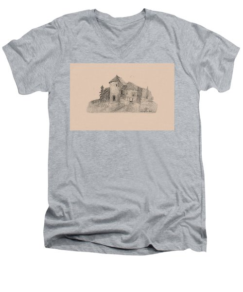Rural English Dwelling Men's V-Neck T-Shirt