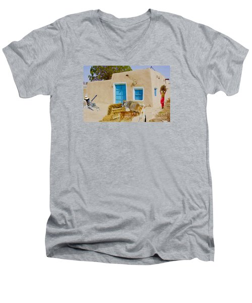 Rural Life  Men's V-Neck T-Shirt