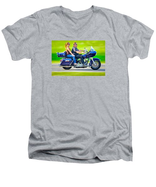 Men's V-Neck T-Shirt featuring the photograph Rural Ride 2 by Brian Stevens