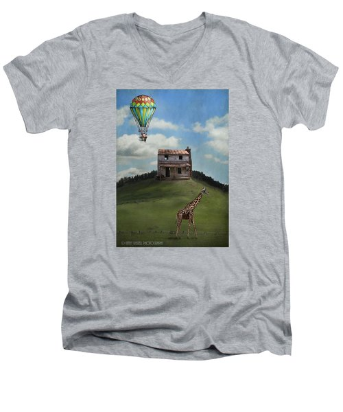 Rural World Men's V-Neck T-Shirt by Kathy Russell