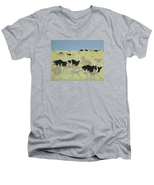 Rush Hour Men's V-Neck T-Shirt by Pat Scott