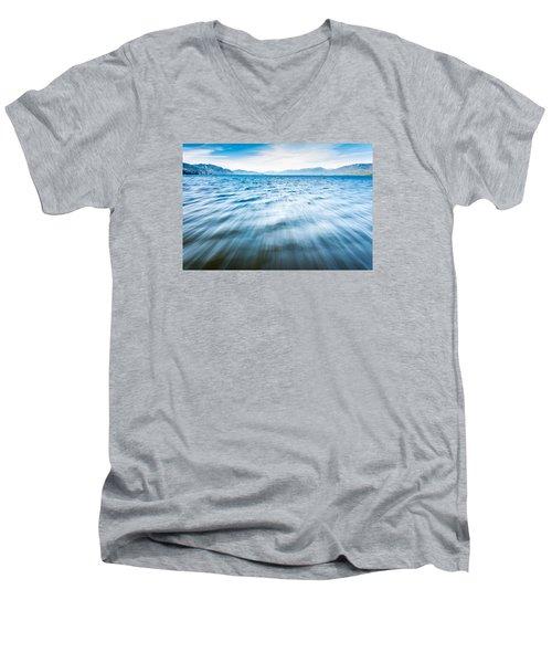 Rushing Away Men's V-Neck T-Shirt