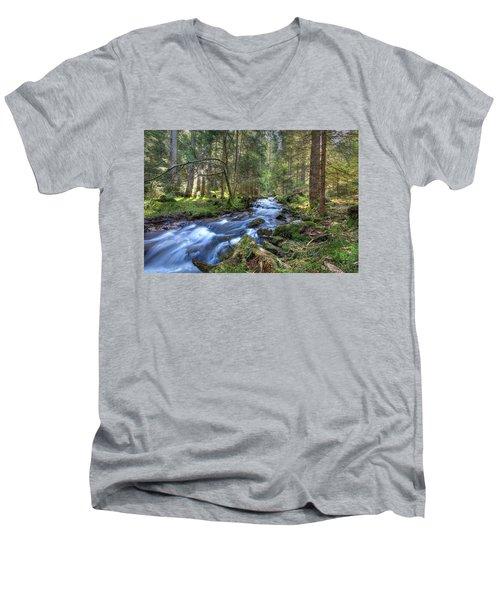 Rushing Stream Men's V-Neck T-Shirt