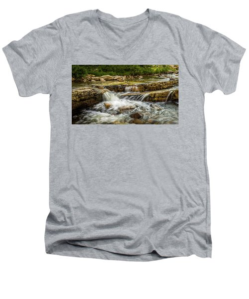 Rushing Waters - Upper Provo River Men's V-Neck T-Shirt