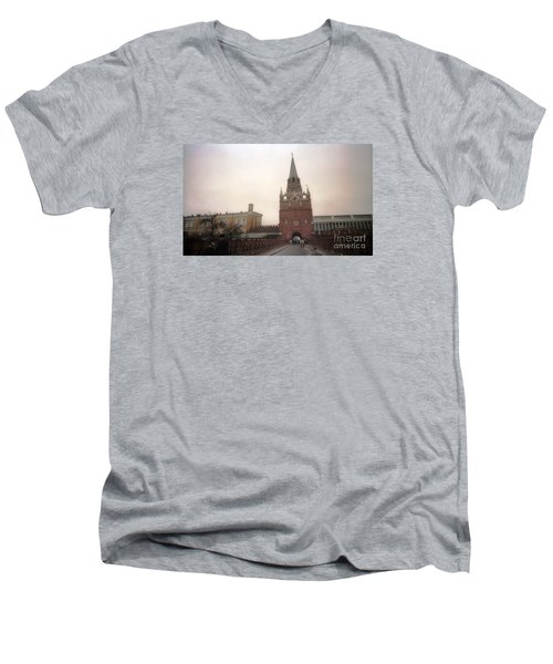Russia Kremlin Entrance  Men's V-Neck T-Shirt