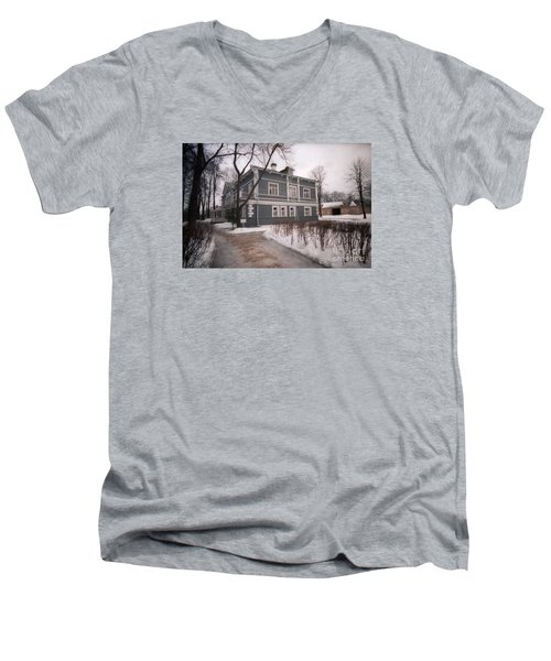 Russian Home January 89 Men's V-Neck T-Shirt by Ted Pollard