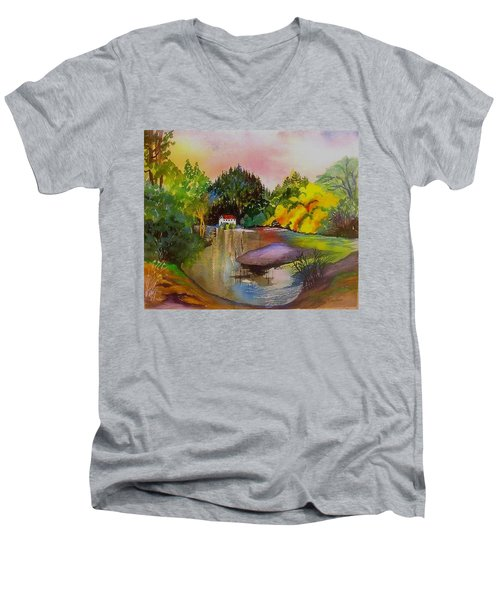 Russian River Dream Men's V-Neck T-Shirt