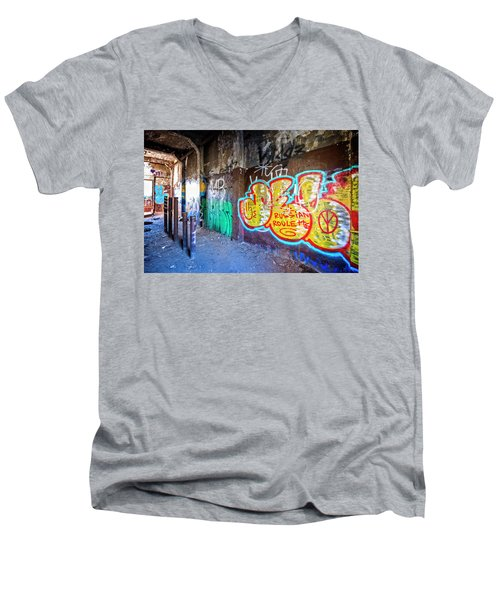 Men's V-Neck T-Shirt featuring the photograph Russian Roulette by Alan Raasch