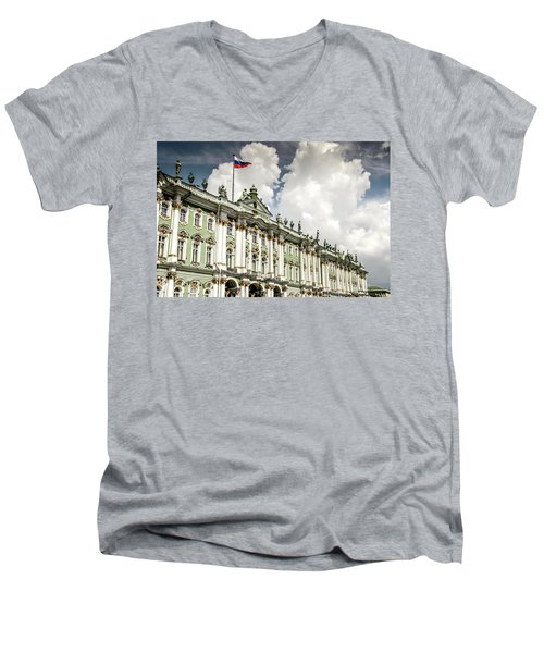 Russian Winter Palace Men's V-Neck T-Shirt