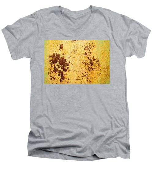 Men's V-Neck T-Shirt featuring the photograph Rust Metal by John Williams