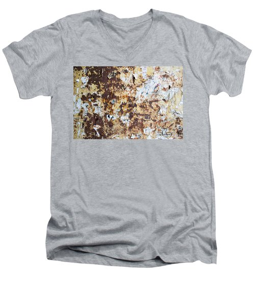 Men's V-Neck T-Shirt featuring the photograph Rust Paper Texture by John Williams