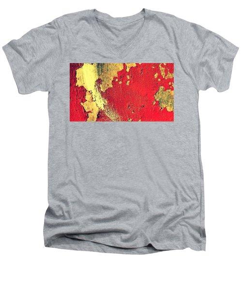 Rust Men's V-Neck T-Shirt