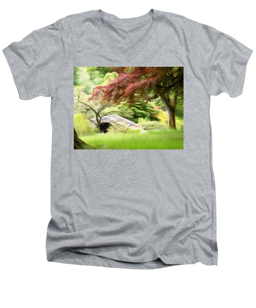 Rustic Bridge Men's V-Neck T-Shirt