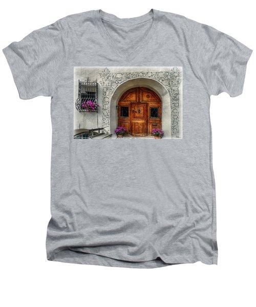Rustic Front Door Men's V-Neck T-Shirt by Hanny Heim