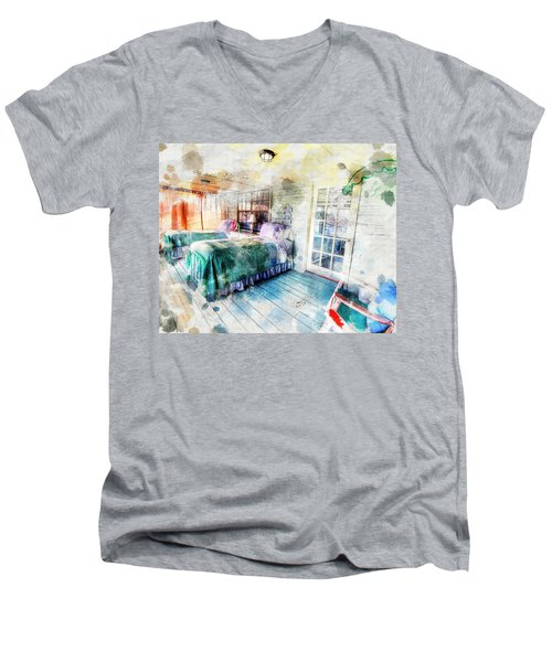 Rustic Look Bedroom Men's V-Neck T-Shirt