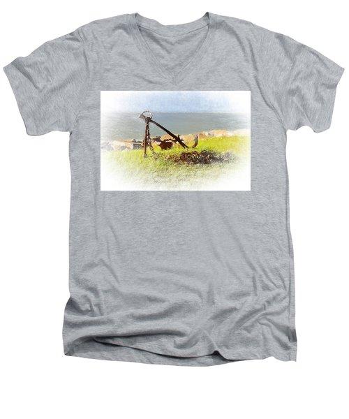 Rusty Anchor Men's V-Neck T-Shirt