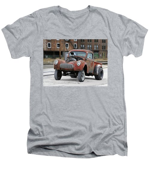 Rusty Gasser Men's V-Neck T-Shirt by Christopher McKenzie