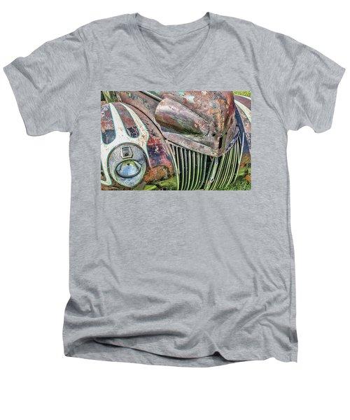 Rusty Road Warrior Men's V-Neck T-Shirt by David Lawson